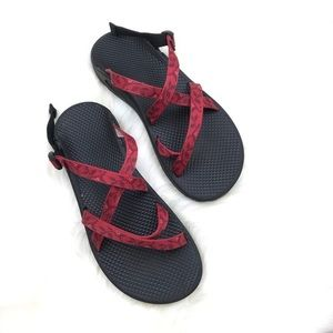 Chaco Wrapsody Ecotread Floral Red Sandals